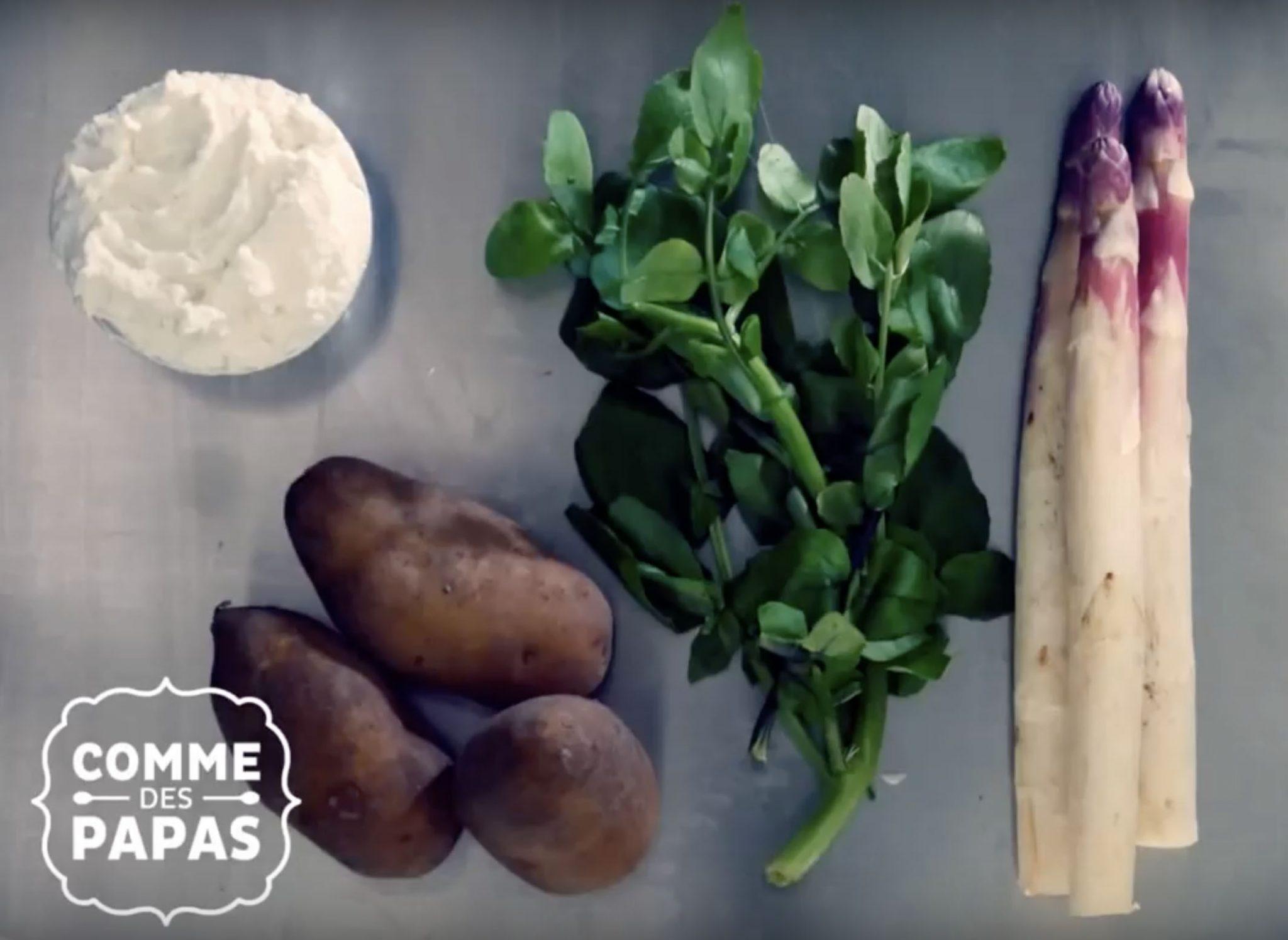Recette bébé dès 8 mois : Mouliné de cresson, asperge et fromage frais
