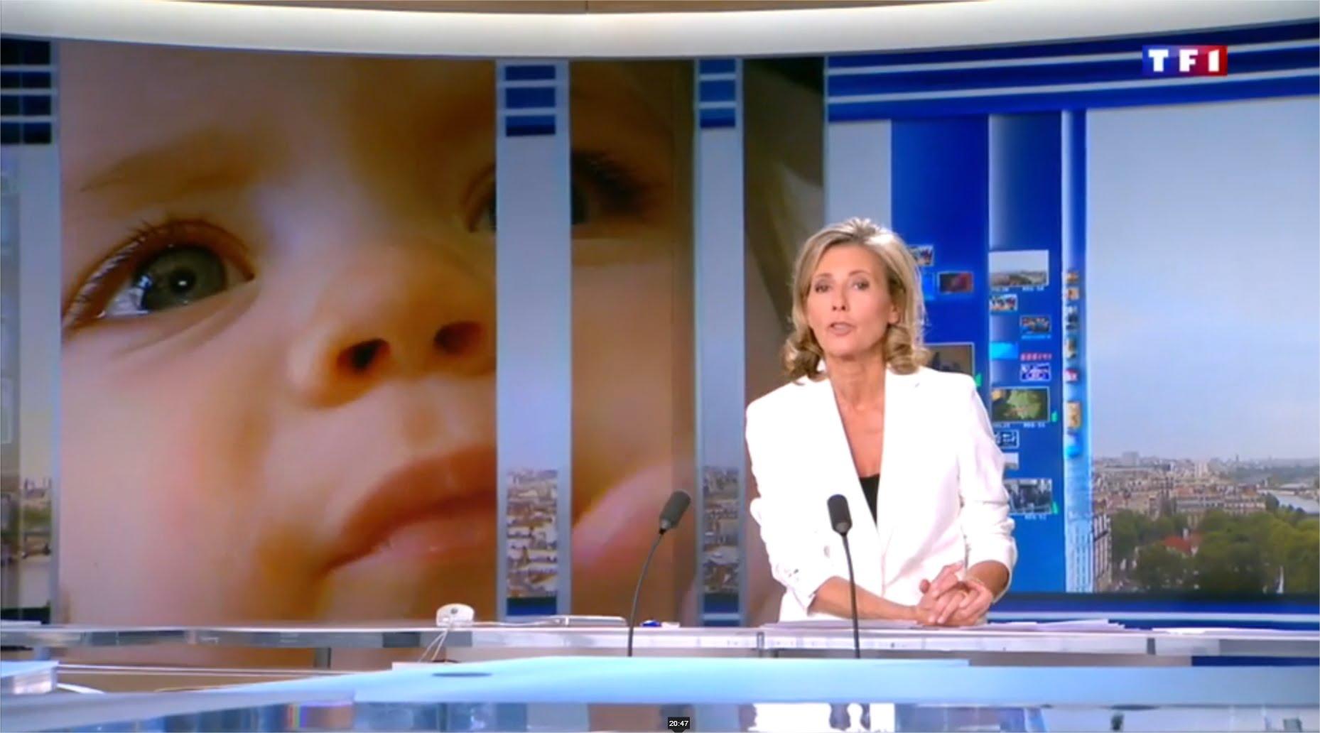 Reportage : Comme des Papas dans le JT de Claire Chazal sur TF1