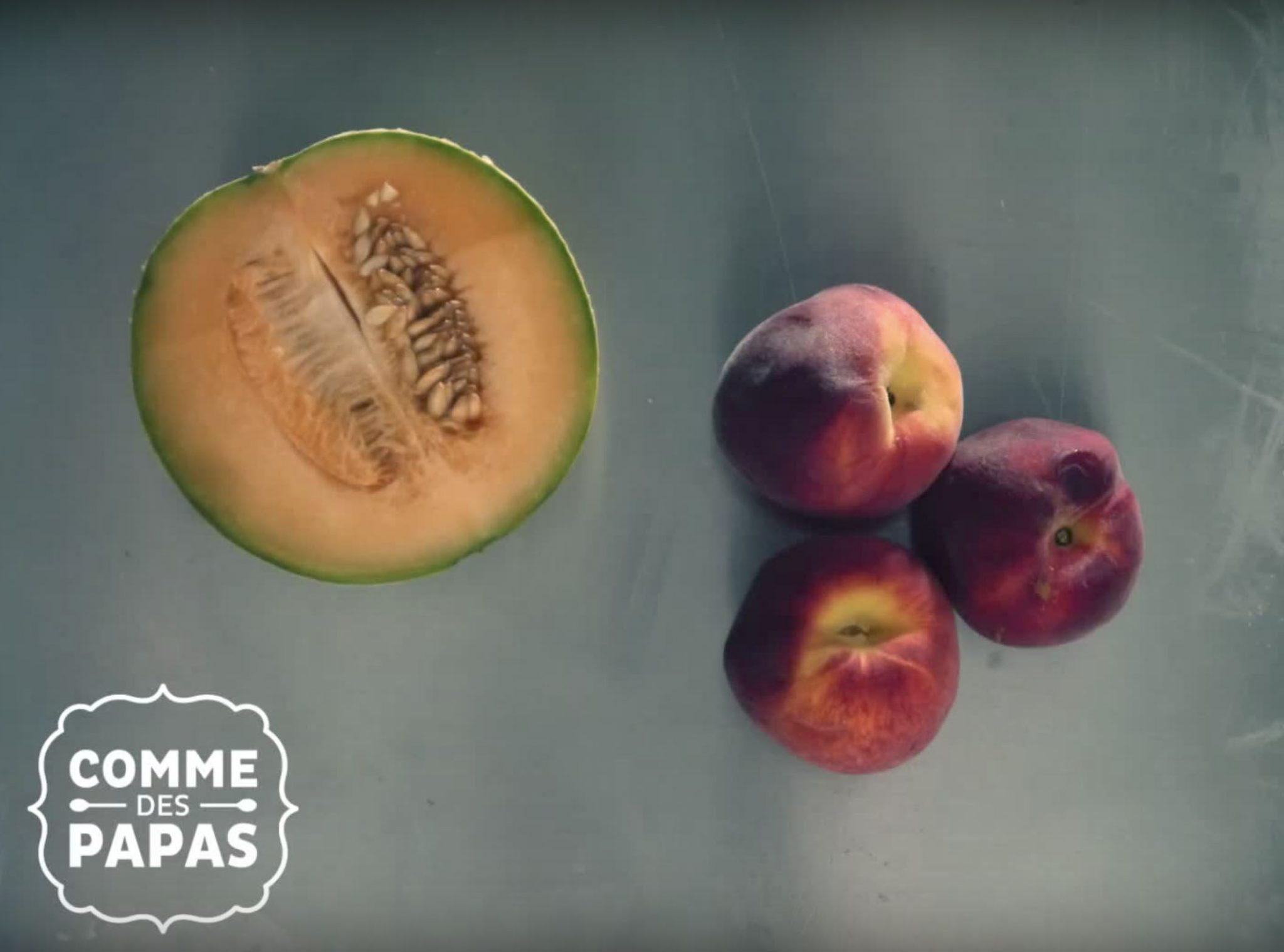 Recette bébé dès 6 mois : Soupe fraîche melon et pêches pour l'été