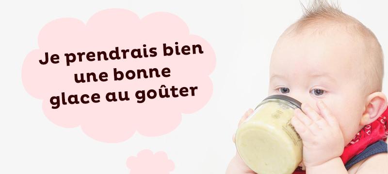 bébé peut-il manger de la glace pour se rafraichir